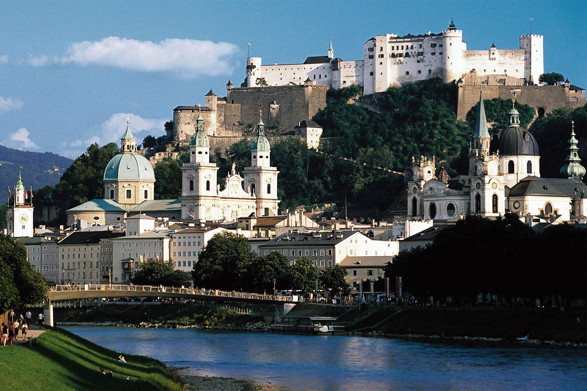 Salzburg Blick auf Festung